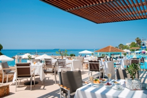 The Royal Apollonia Breakfast Outdoor Veranda