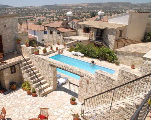 Skarinou Traditional Houses Pool View 1