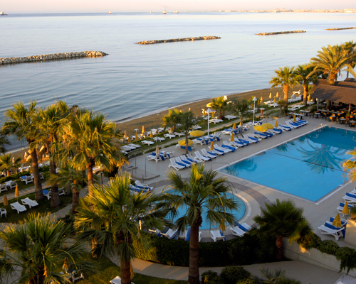 Palm Beach Hotel Pool And Sea View