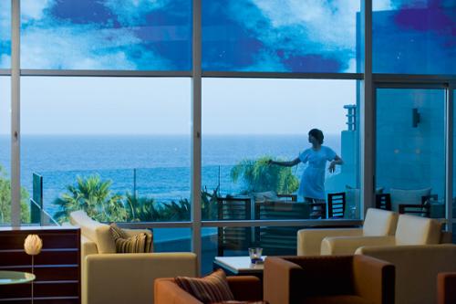Mediterranean Beach Hotel Clouds Lobby Lounge