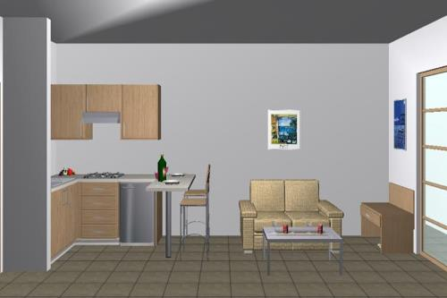 Sample of Living Room of Superior Studio Pool View