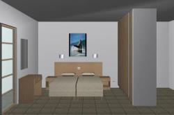Sample of Bedroom of Superior Studio Pool View