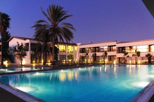 Pafiana Heights Swimming Pool by Night