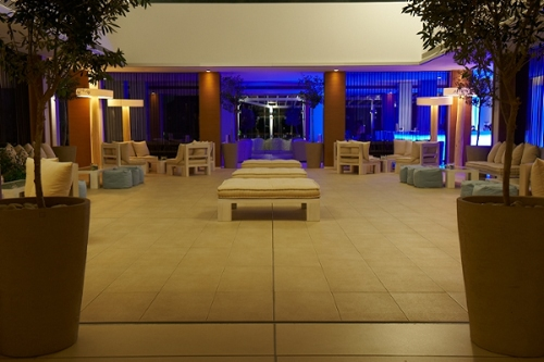 Capo Bay Hotel Lobby by Night