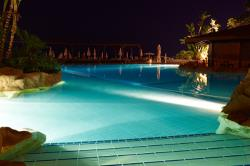 Capo Bay Hotel Outdoor Pool by Night