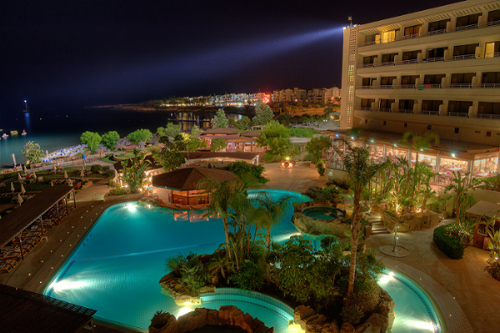 Capo Bay Hotel Panoramic View by Night 1