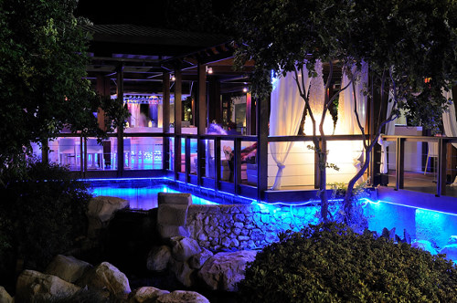 Capo Bay Hotel Koi Bar by Night