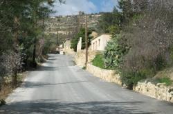 Villa Miliou Street in Miliou Village
