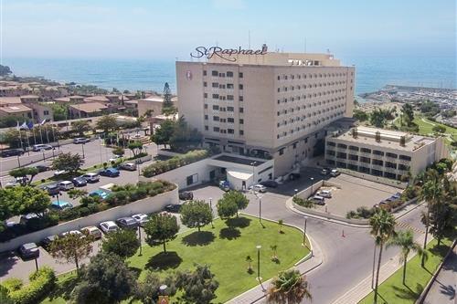 St. Raphael Resort Aerial Front View, Gardens, Parking