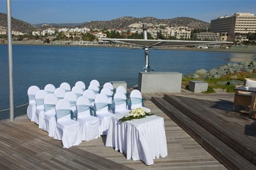 St. Raphael Resort Sailor's Wedding Set-up