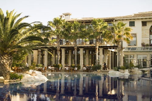 Columbia Beach Resort Bacchus Restaurant From the Pool